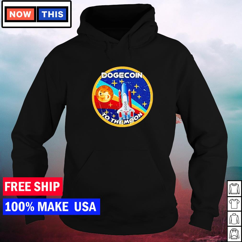 Dogecoin to the moon vintage s hoodie
