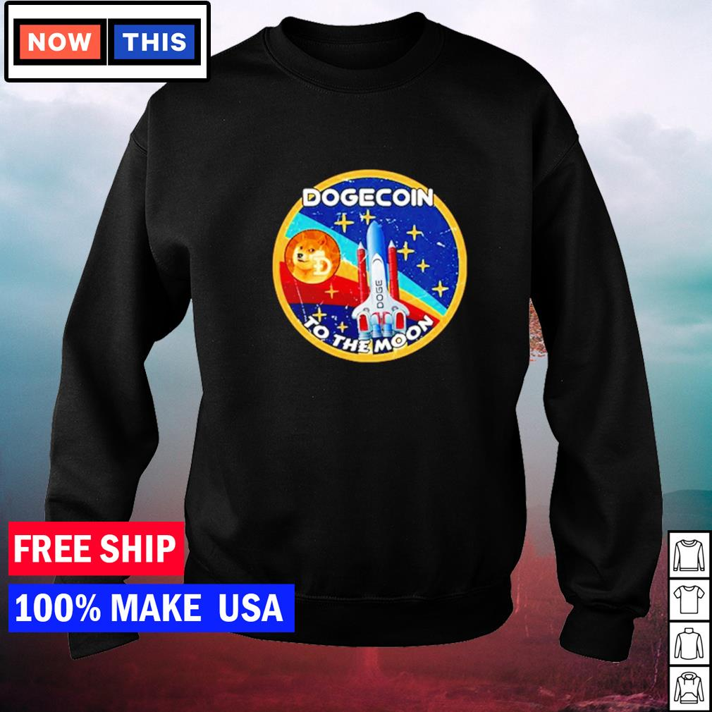 Dogecoin to the moon vintage s sweater
