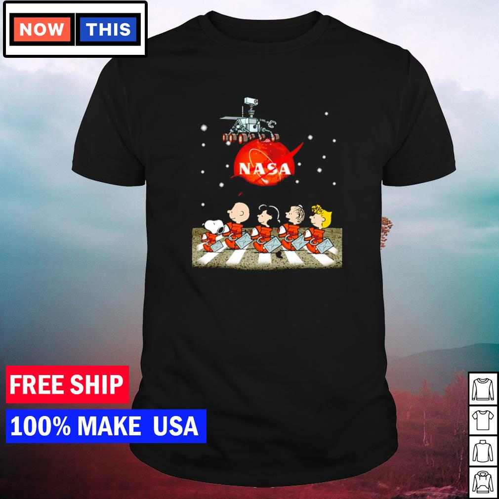 Nasa Mars perseverance Snoopy Abbey Road shirt