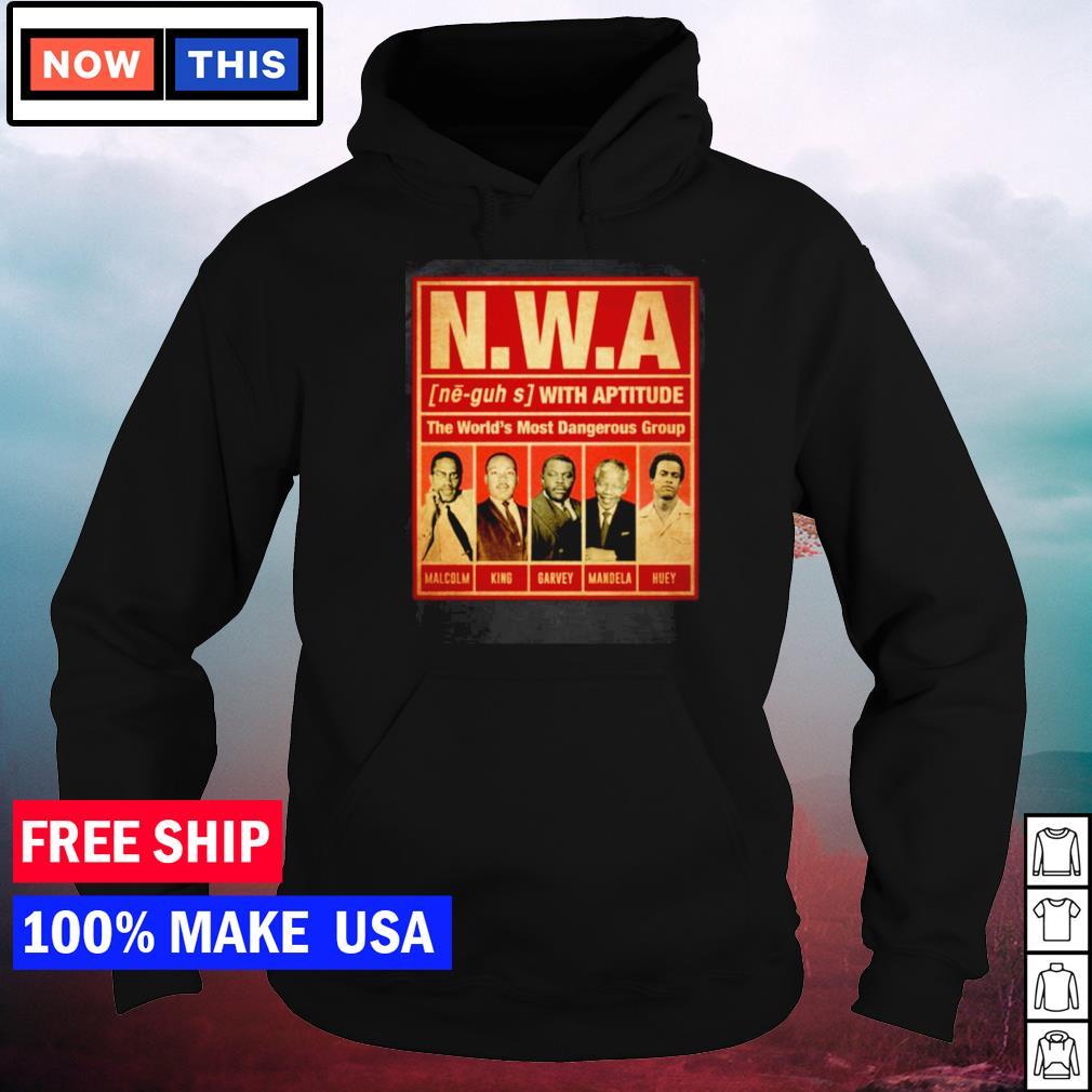 NWA the world's most dangerous group Malcolm King Garvey Mandela and Huey s hoodie