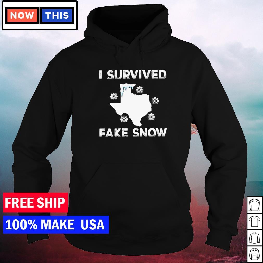 Texas I survived fake snow snovid-21 s hoodie
