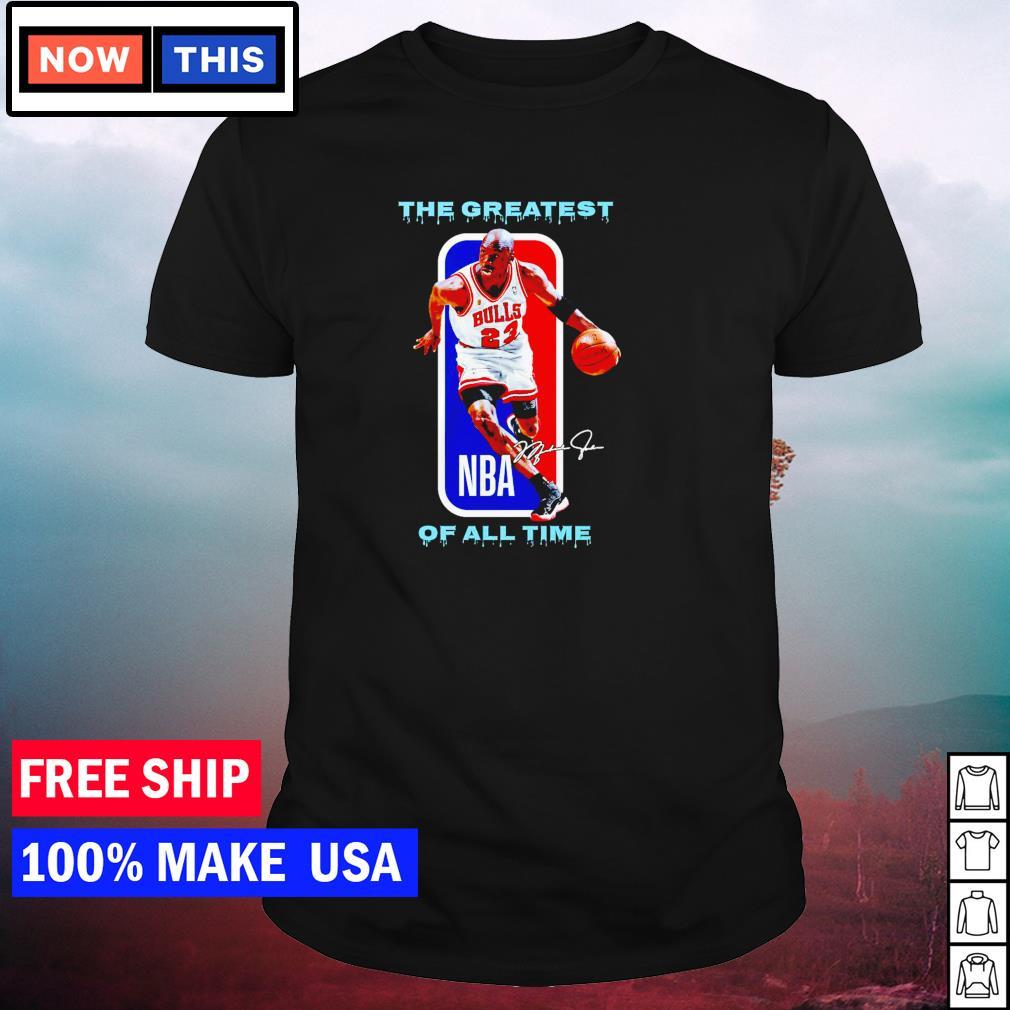 Chicago Bulls Michael Jordan the greatest NBA of all time signature shirt