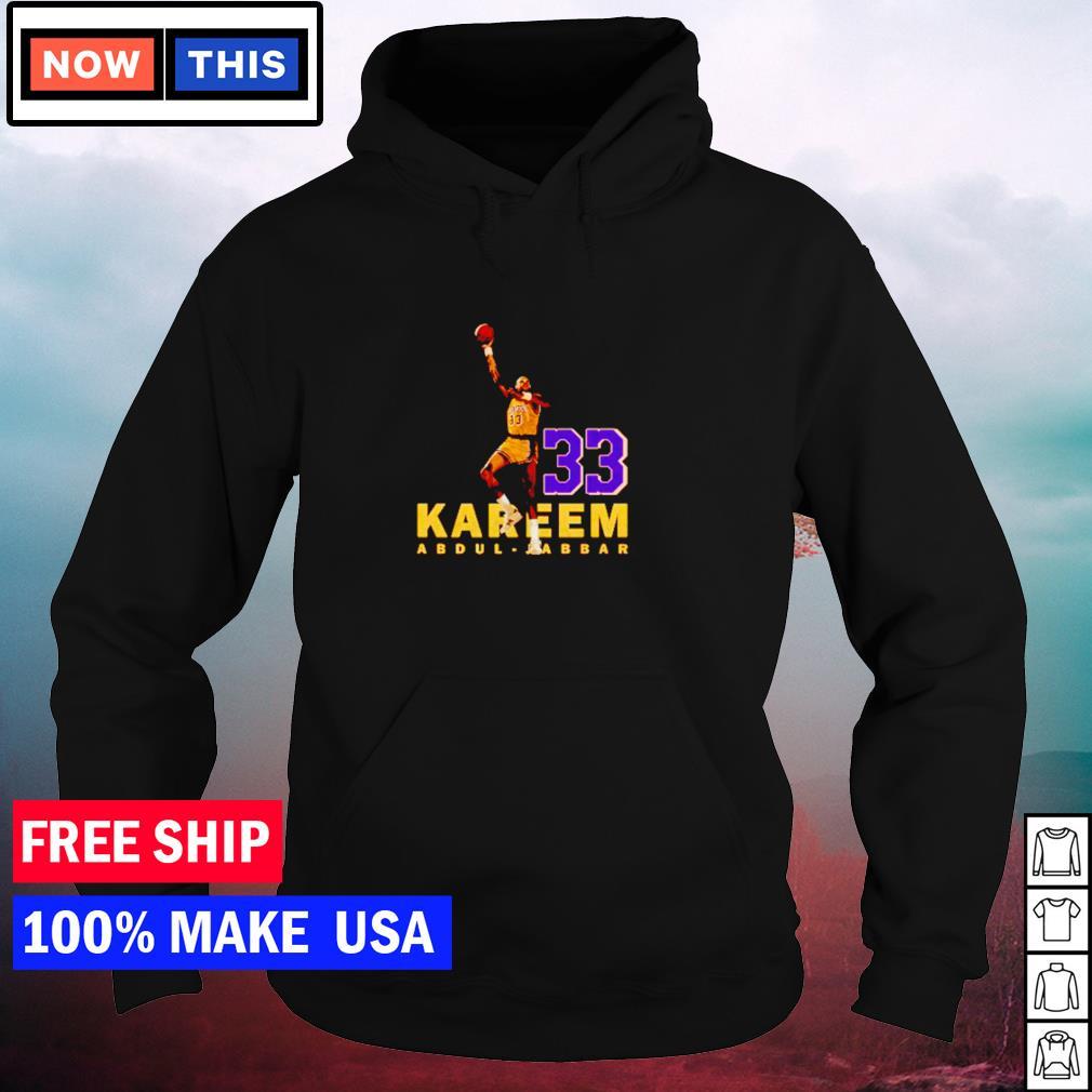 Kareem Abdul-Jabbar Los Angeles Lakers number 33 s hoodie