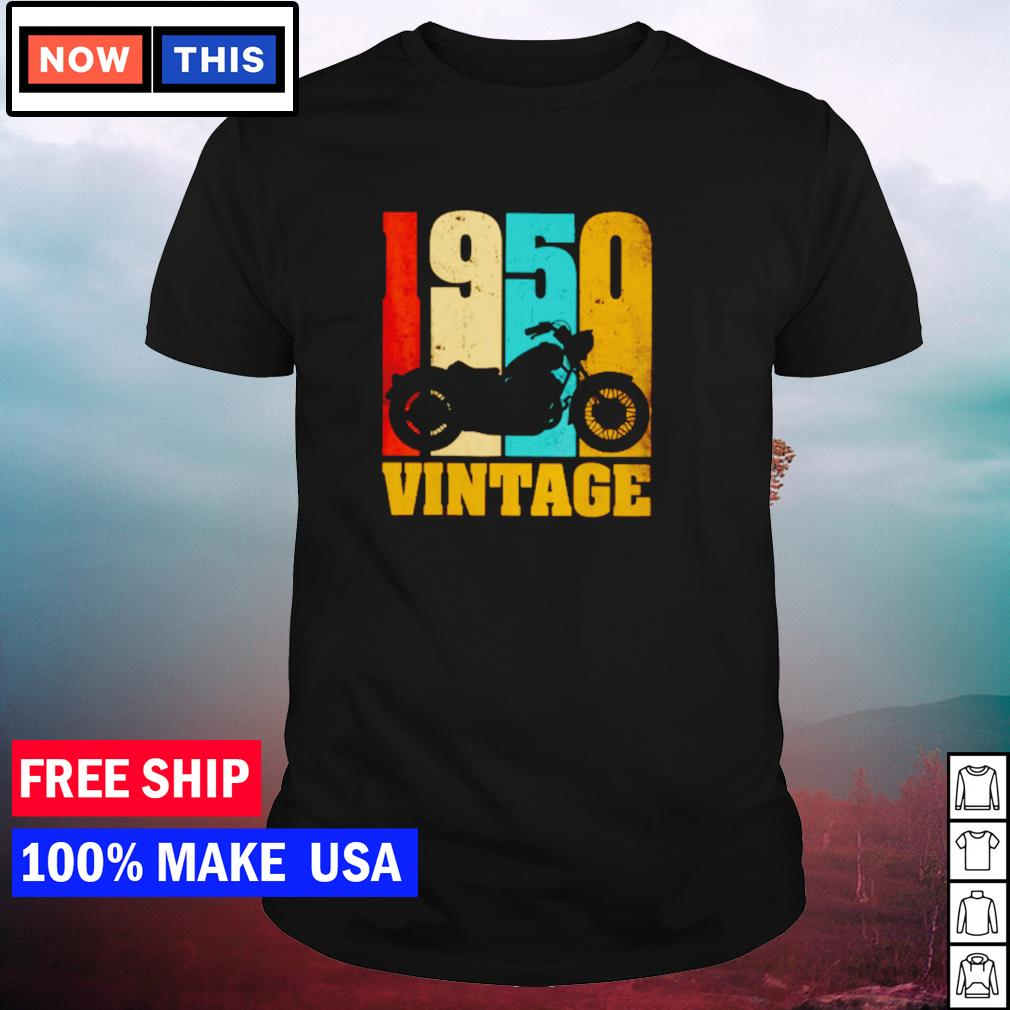 Motorcycle 1950 vintage shirt