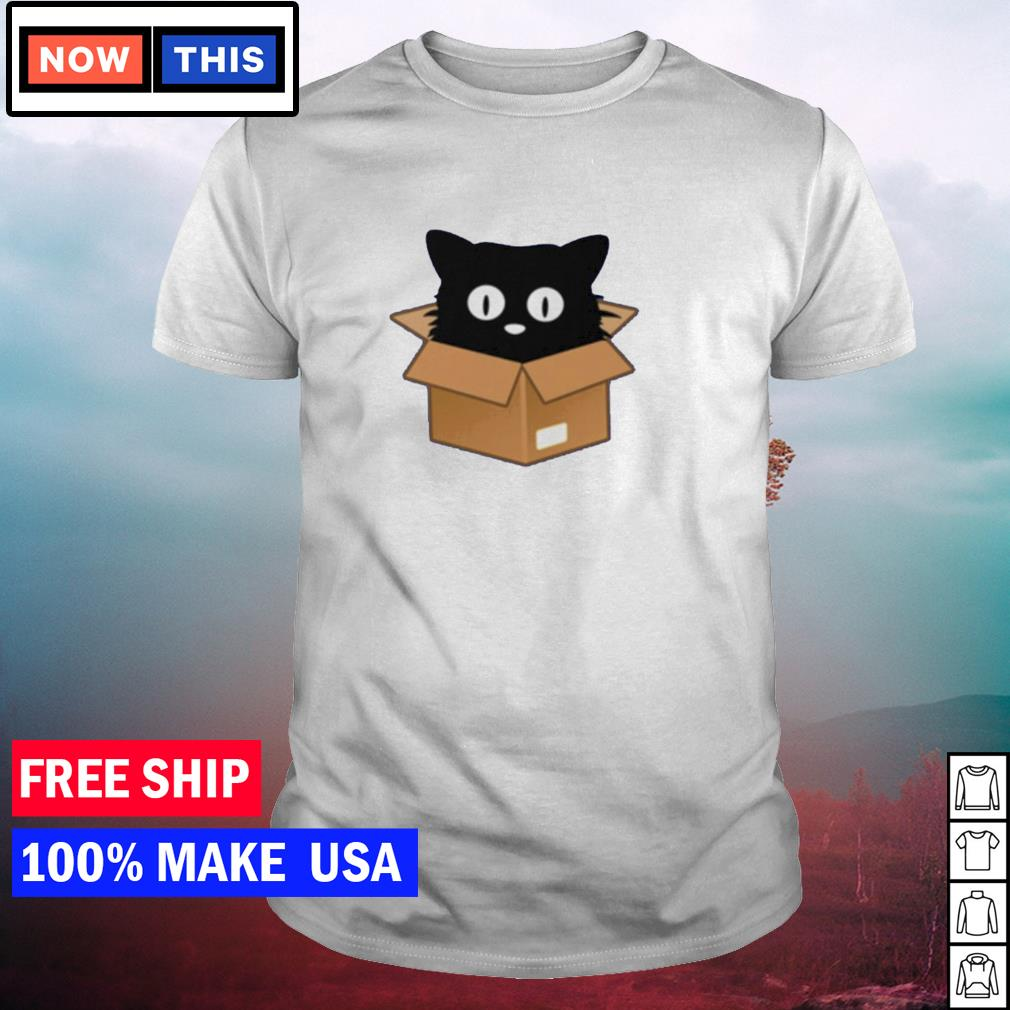 Official black cat in the box shirt