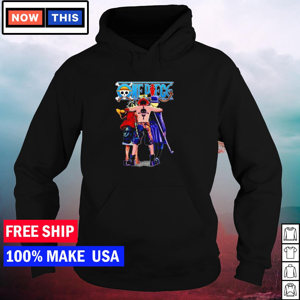 One Piece Luffy Ace and Sabo s hoodie
