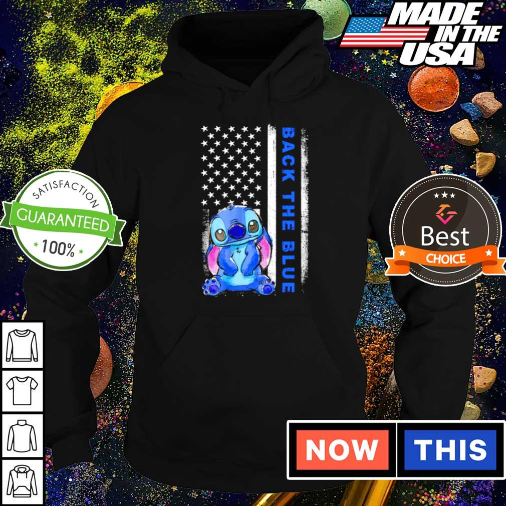 American Flag Stitch Back the blue s hoodie