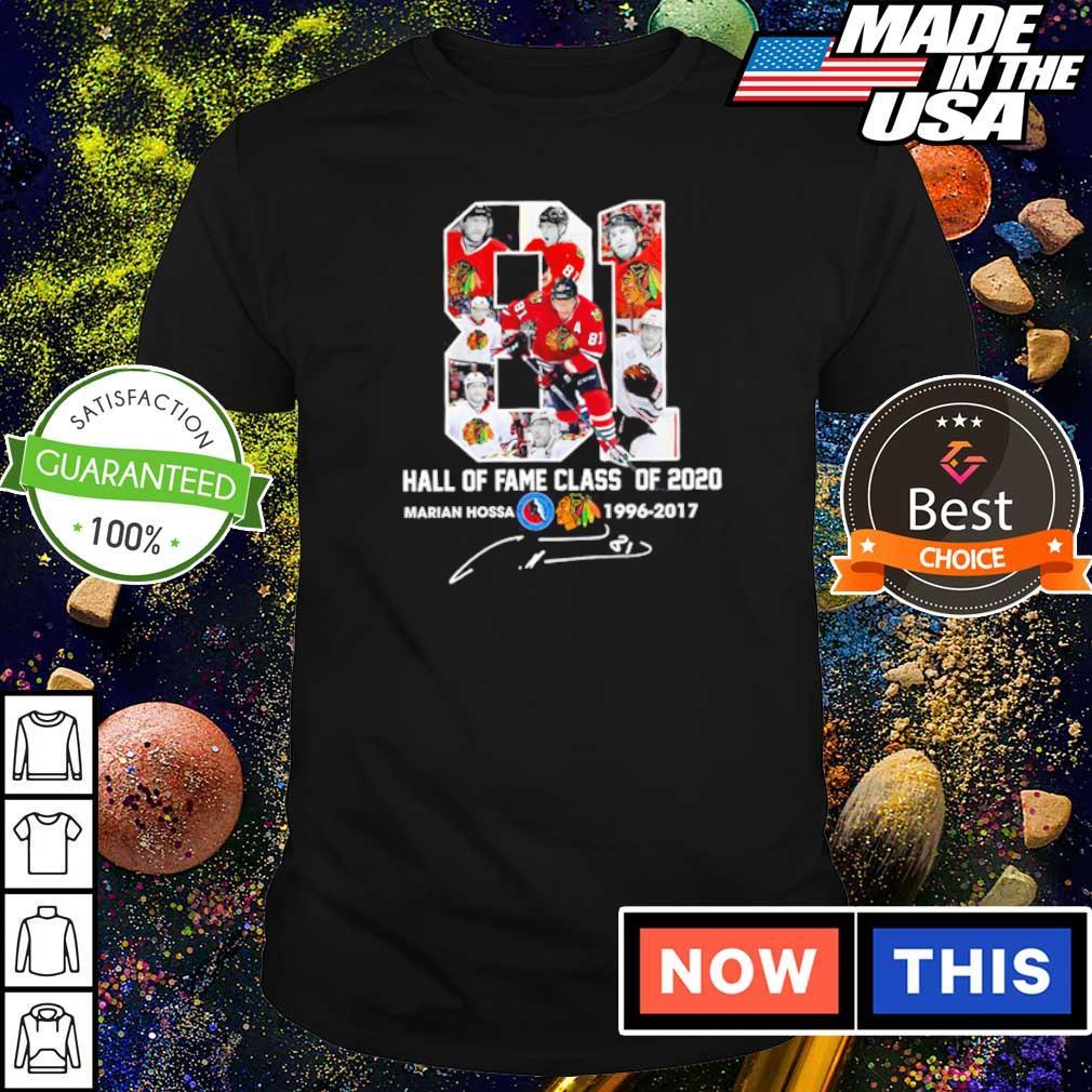 Marian Hossa hall of fame class of 2020 1996 2019 shirt