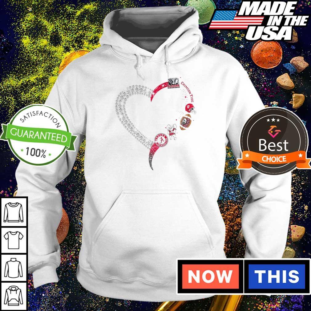 Alabama Crimson Tide diamonds heart s hoodie