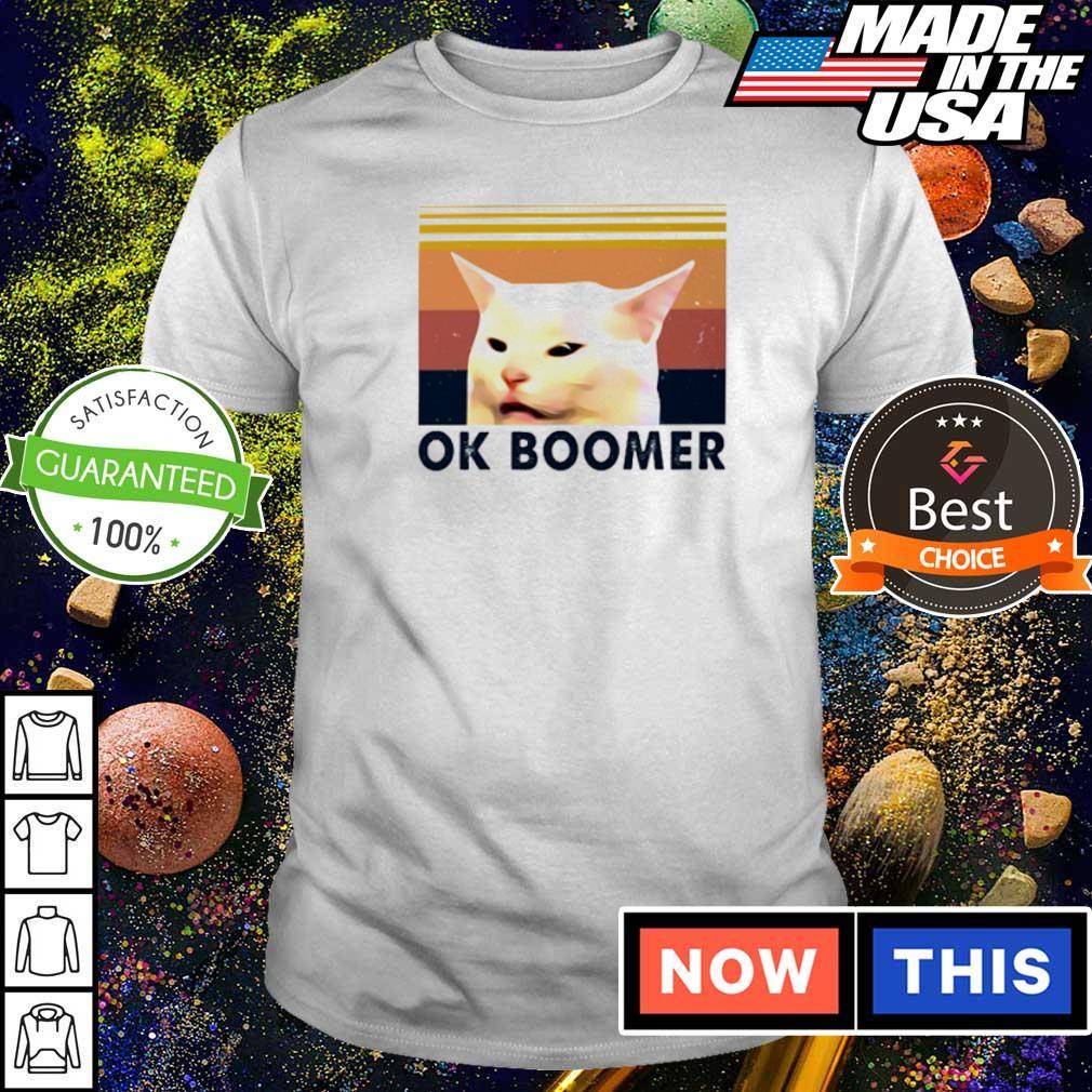 Cat meme ok boomer vintage shirt