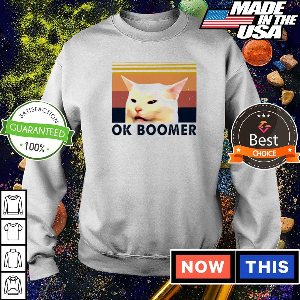 Cat meme ok boomer vintage s sweater