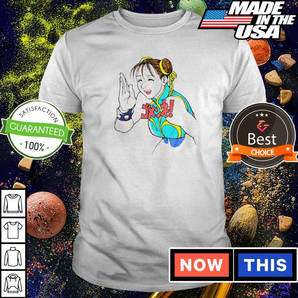 Street Fighter Chun-Li Gomen Ne shirt