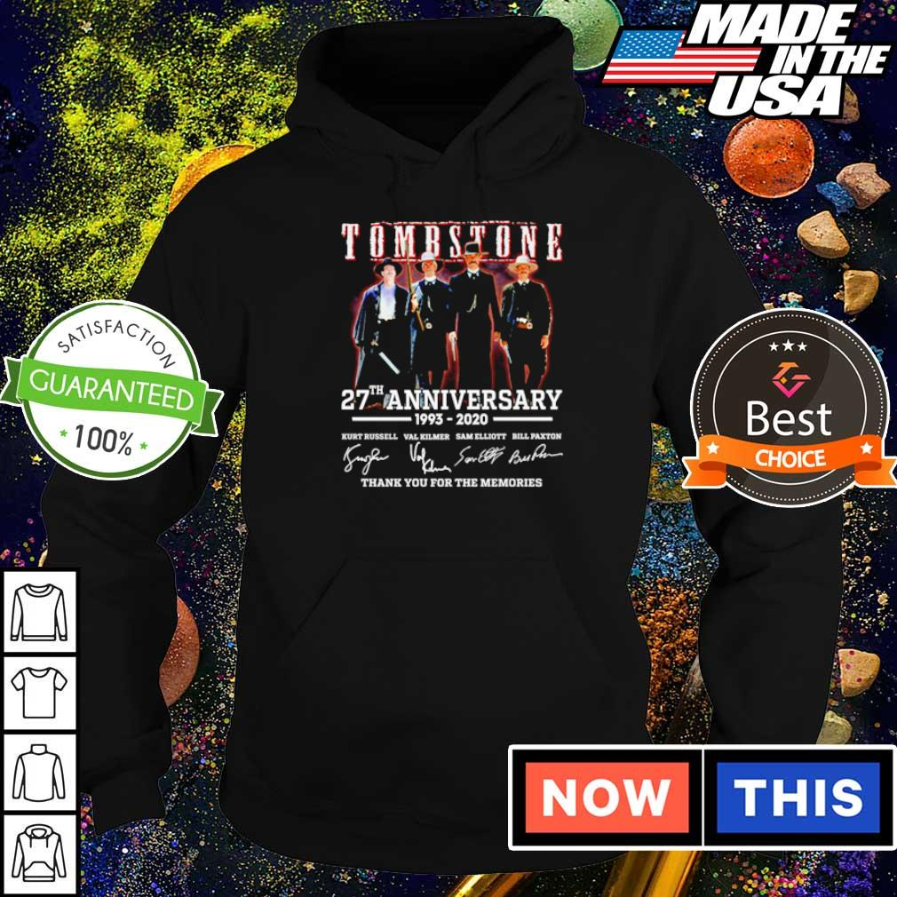 Tombstone 27th anniversary thank you for the memories s hoodie