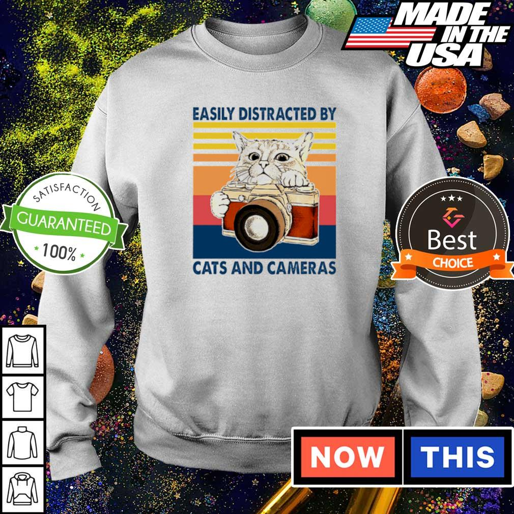 Easily distracted by cats and cameras s sweater