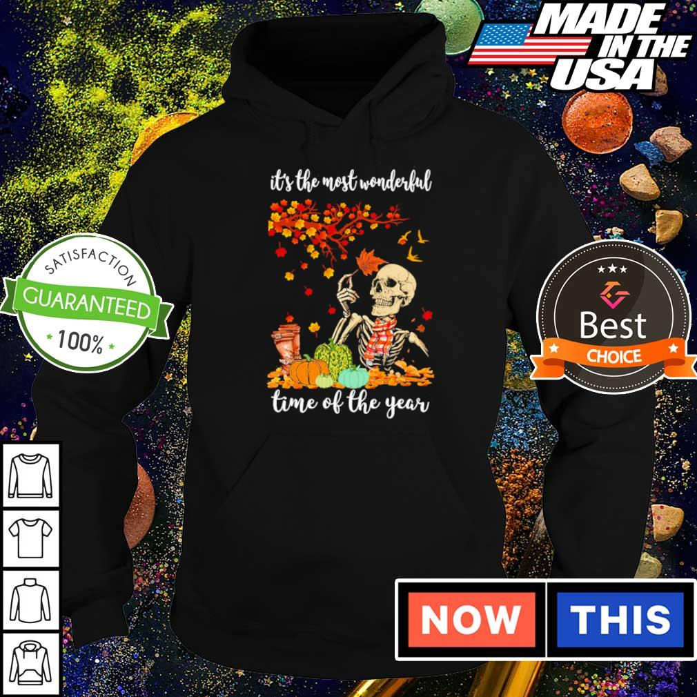 Skeleton is's the most wonderful time of the years s hoodie