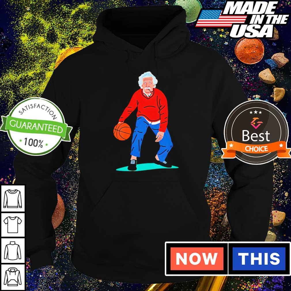 Albert Einstein playing basketball art s hoodie