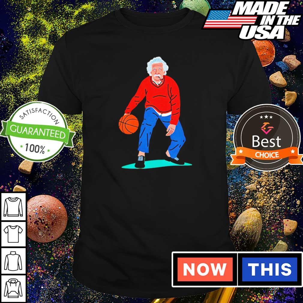Albert Einstein playing basketball art shirt