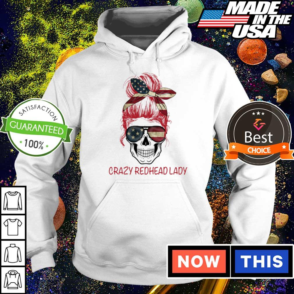 American Flag Crazy Redhead Lady s hoodie