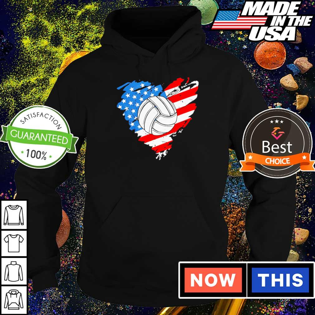 American Flag heart volleyball s hoodie