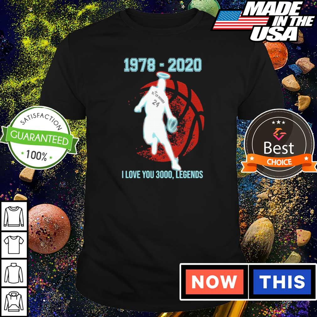 Black Mamba 1978 2020 I love you 3000 legends shirt