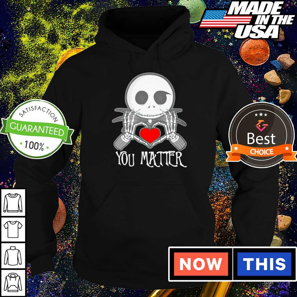 Chibi Jack Skellington love you matter s hoodie