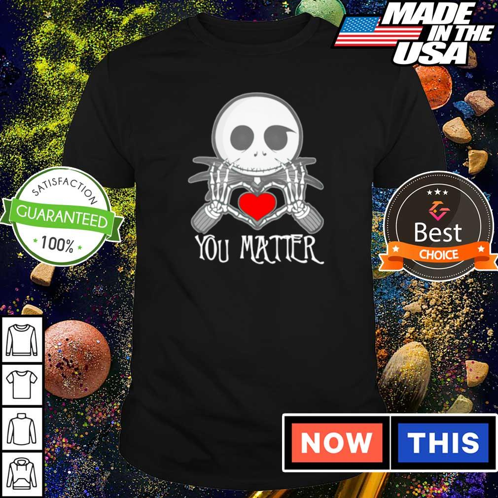 Chibi Jack Skellington love you matter shirt