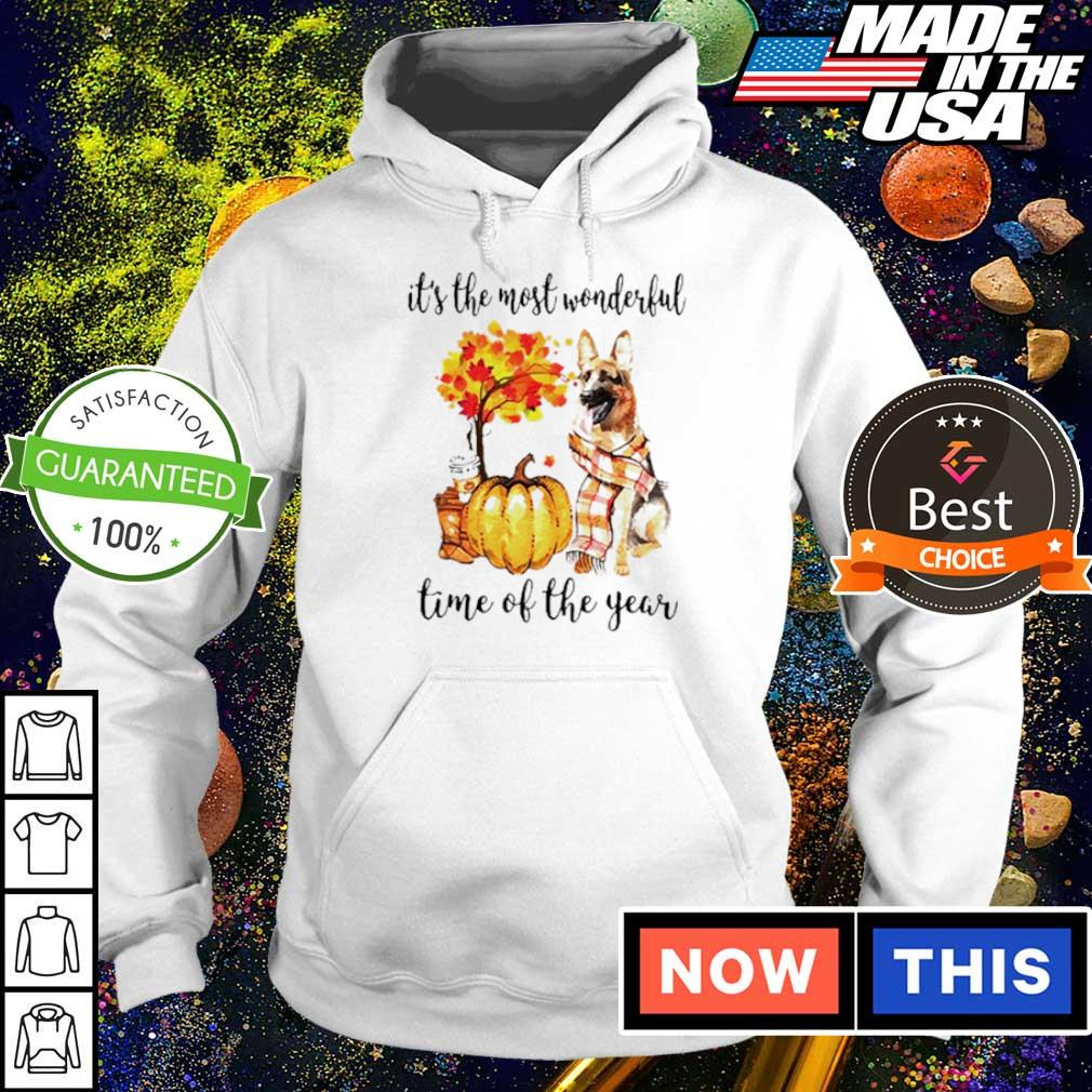 German Shepherd Fall pumpkin it's the most wonderful time of the year s hoodie