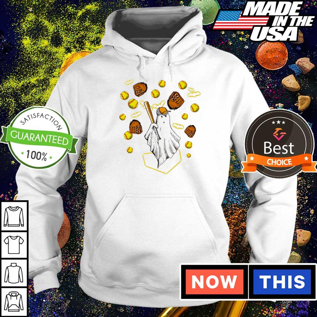Happy Halloween playing softball s hoodie