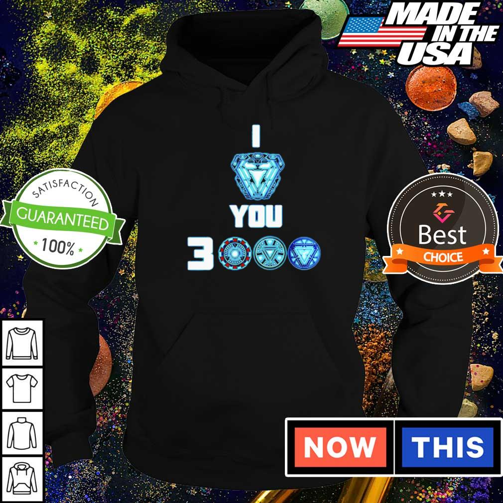 Iron Man arc reactor I love you 3000 s hoodie