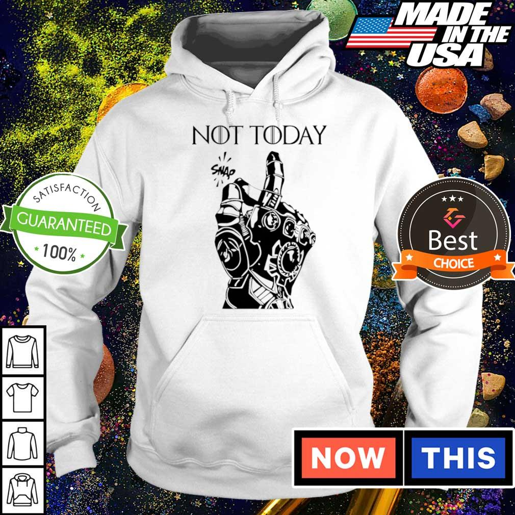 Marvel Infinity gauntlet not today snap s hoodie