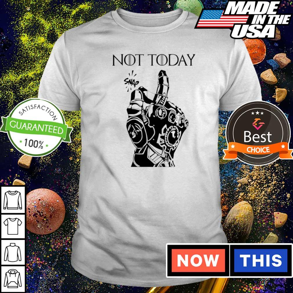 Marvel Infinity gauntlet not today snap shirt