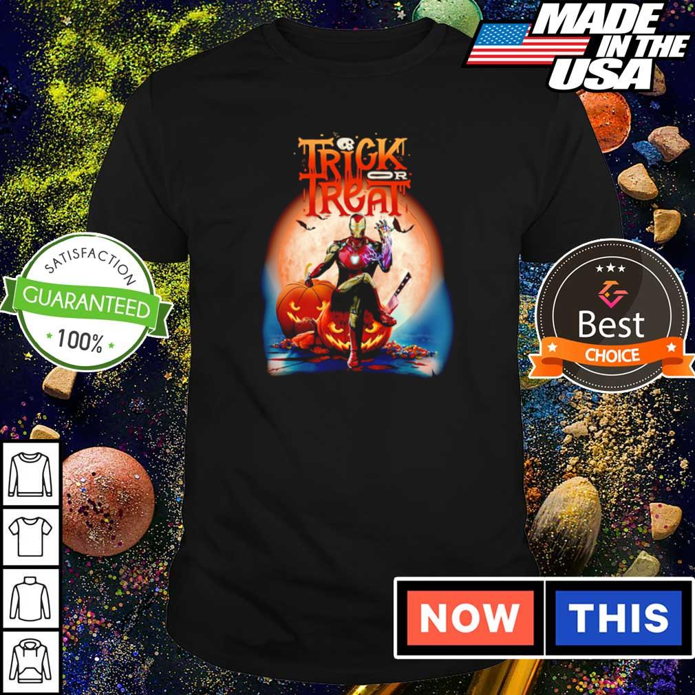 Marvel Iron Man trick or treat happy Halloween shirt