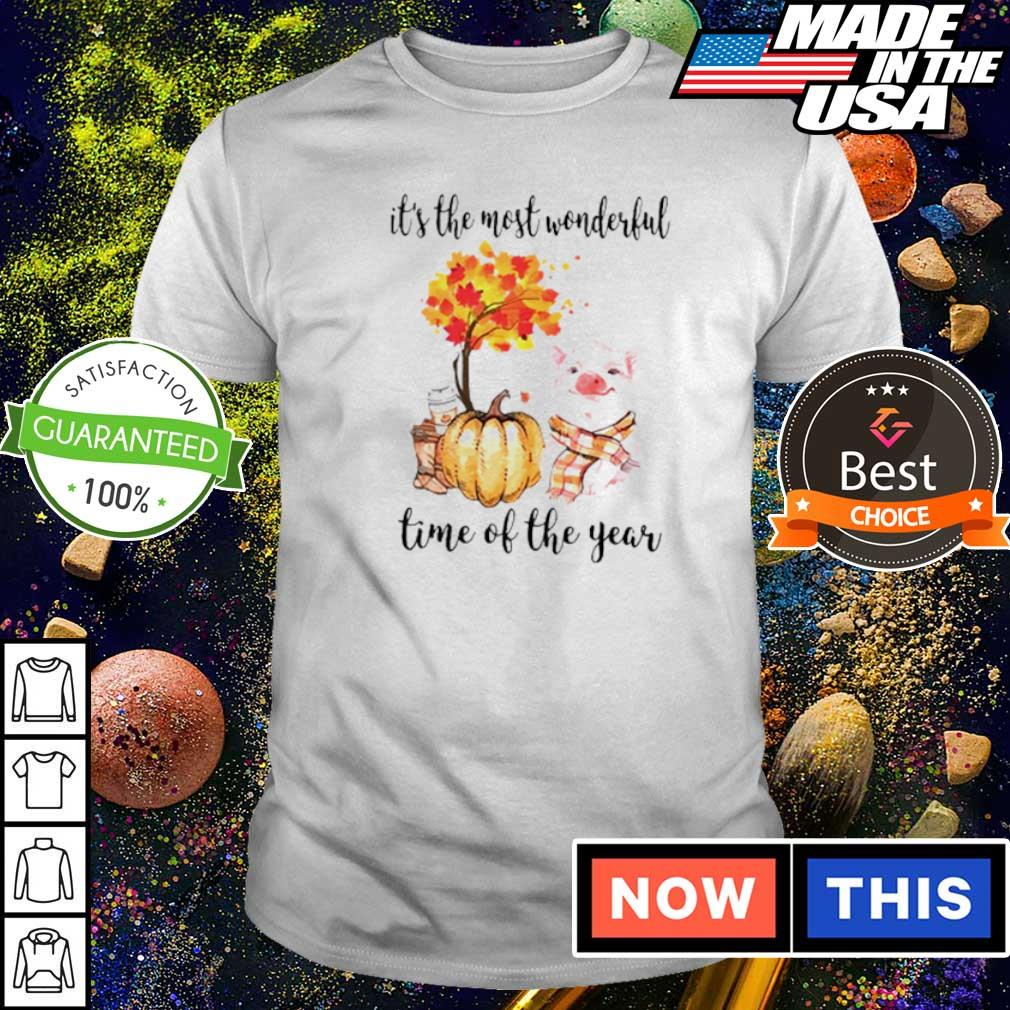 Pig Fall pumpkin it's the most wonderful time of the year shirt