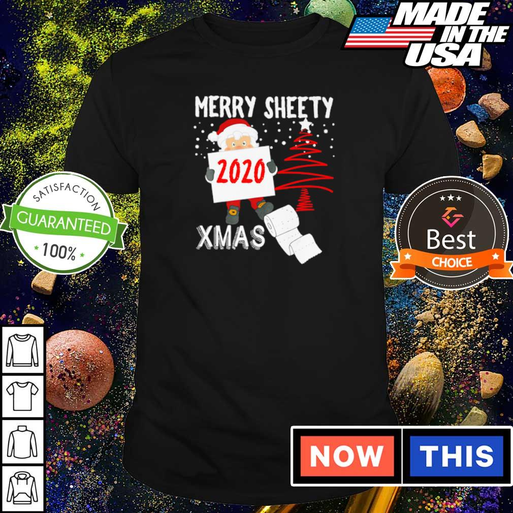 Santa merry sheety Xmas social distancing Christmas shirt