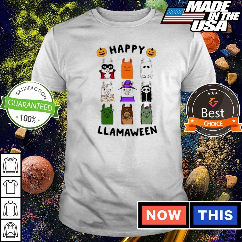 Scary Happy Llamaween Halloween shirt