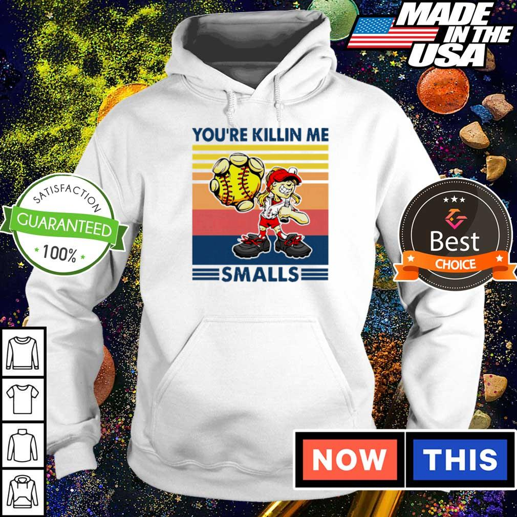 Softball cartoon girl you're killin me smalls vintage retro s hoodie