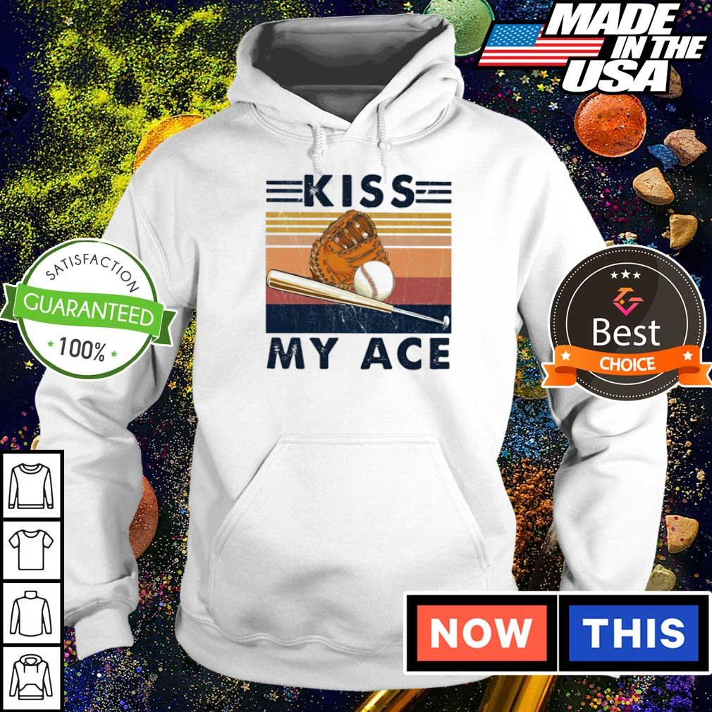 Softball kiss my ace vintage retro s hoodie