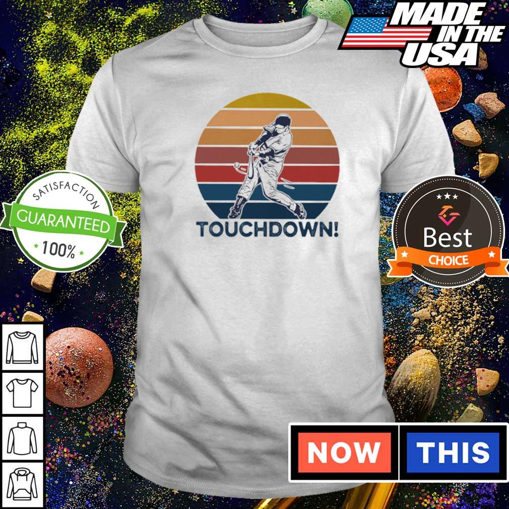 Softball touchdown vintage retro shirt