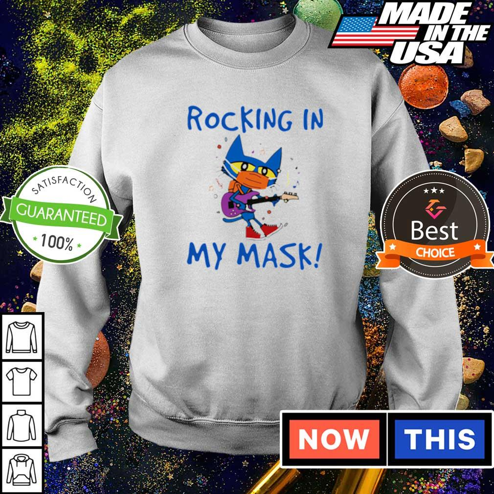 Teacher Rocking in my mask s sweater