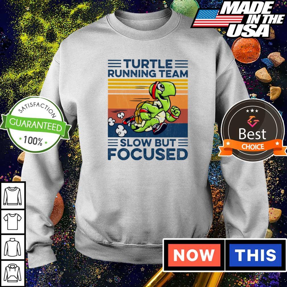 Turtle running team slow but focused vintage s sweater