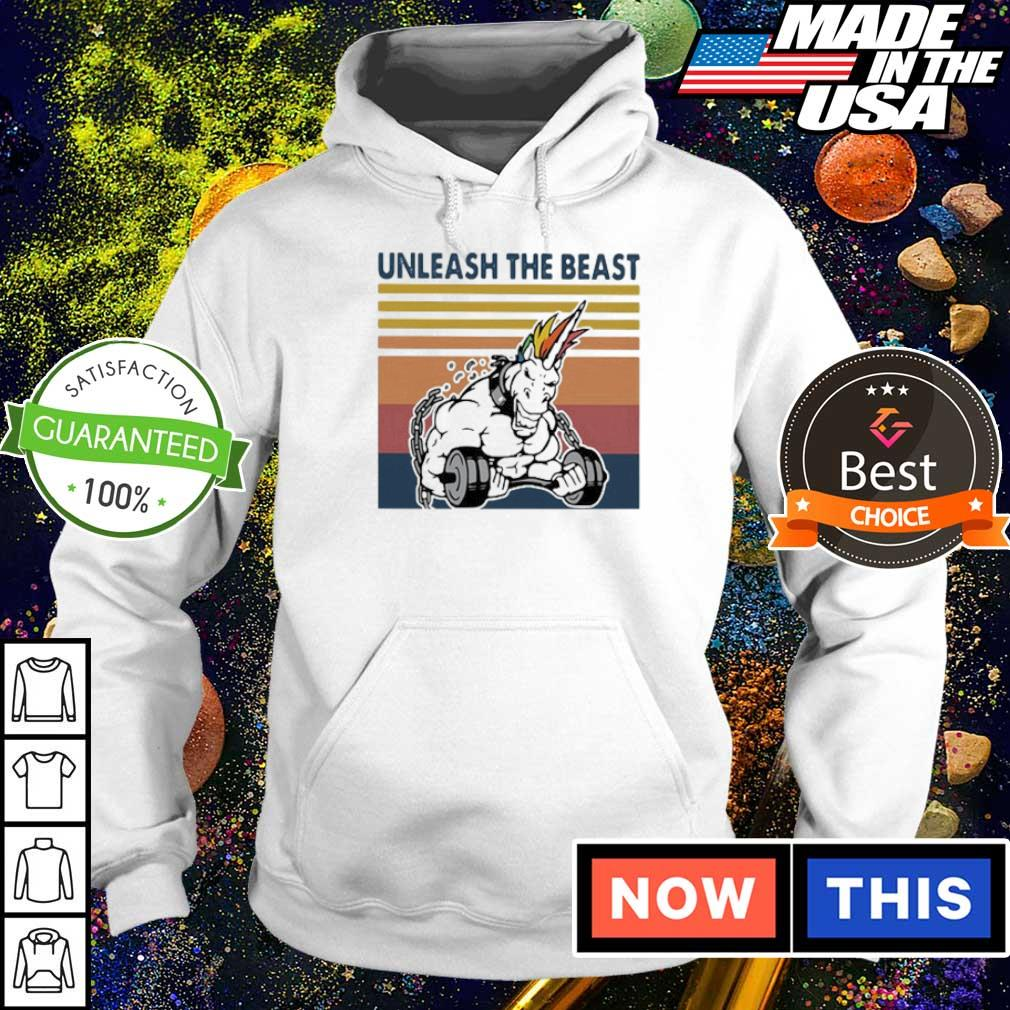 Unicorn unleash the beast fitness vintage s hoodie