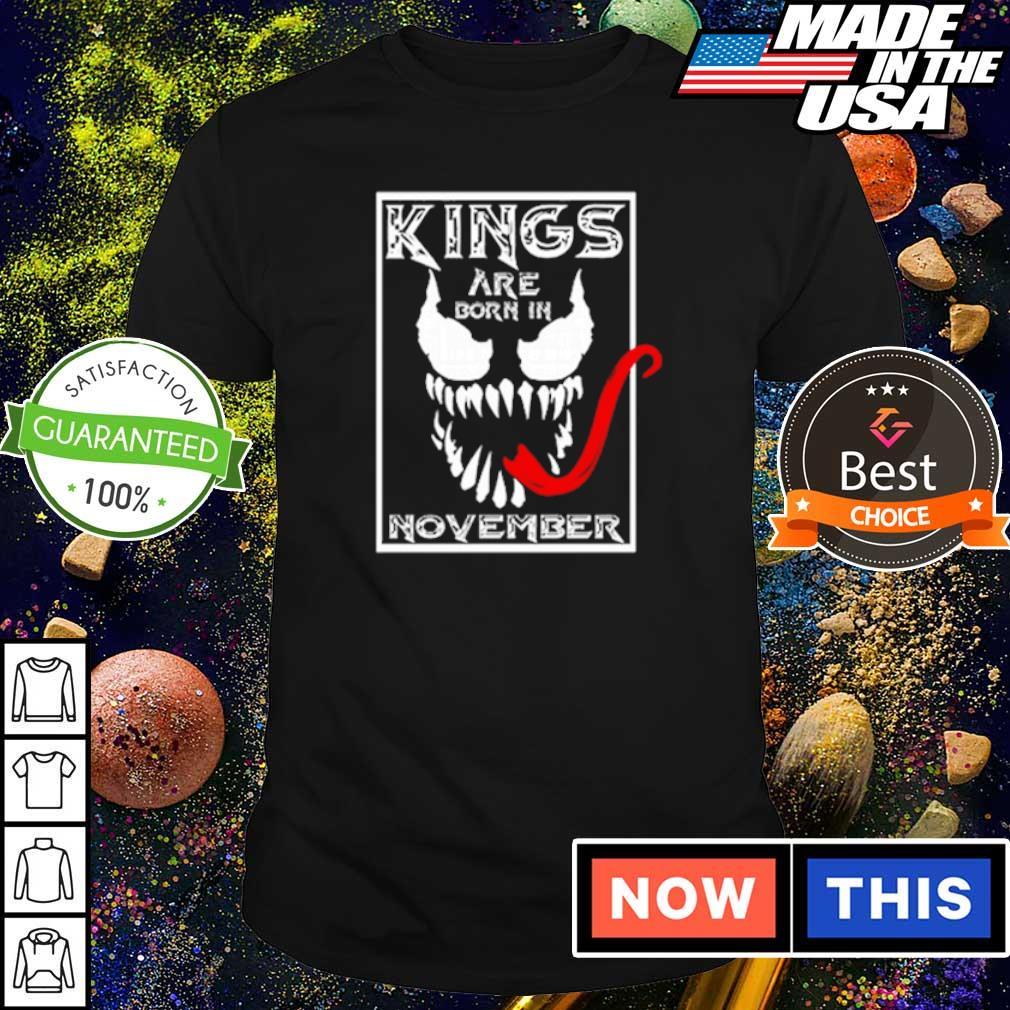 Venom kings are born in november shirt