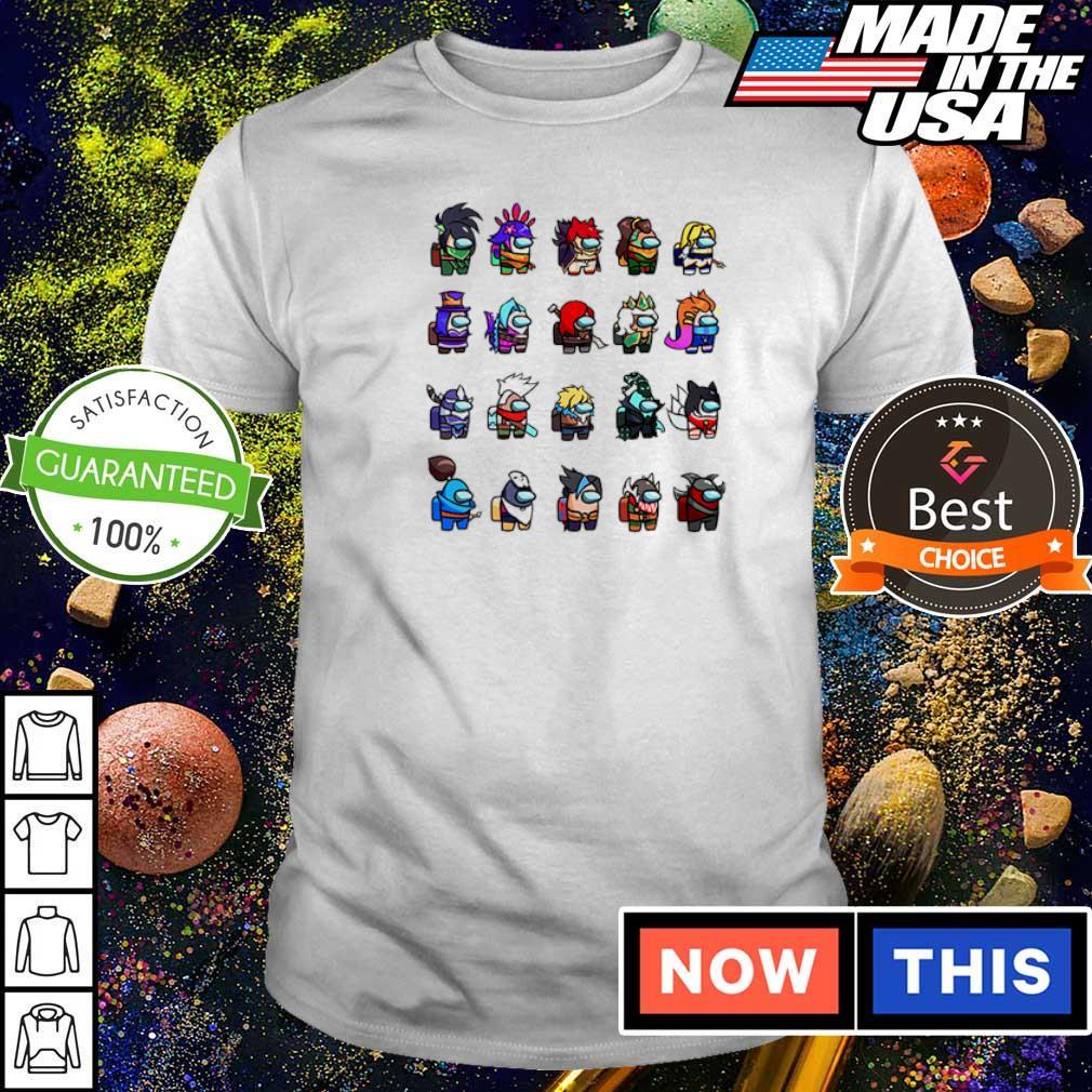 Among us x league of legends game shirt