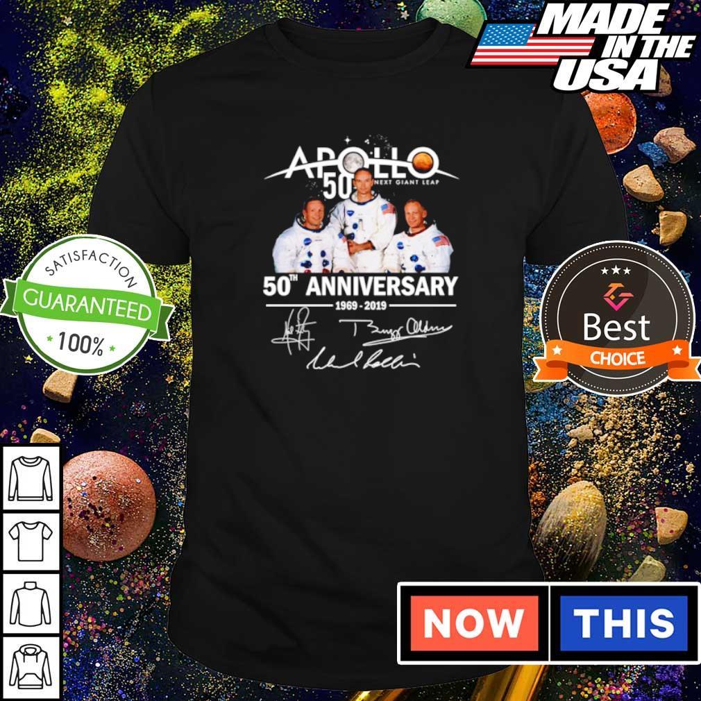 Apollo 11 50th anniversary signatures shirt