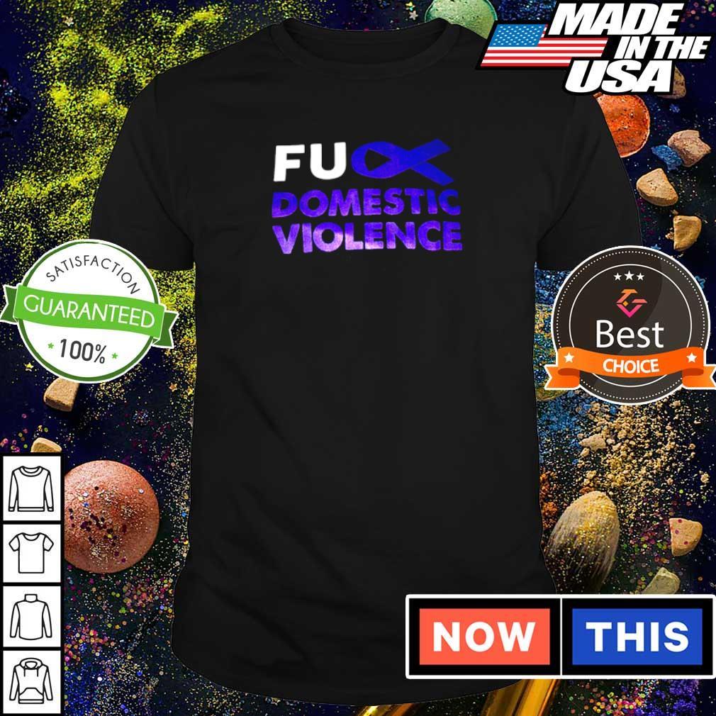 Autism awareness fuck domistic violence shirt