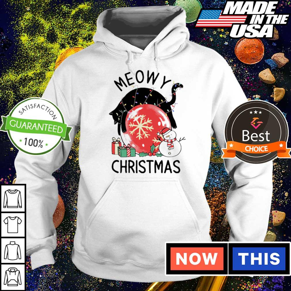 Black cat meowy merry Christmas s hoodie