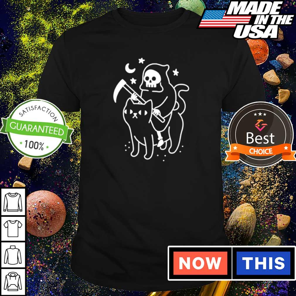 Death riding black cat shirt