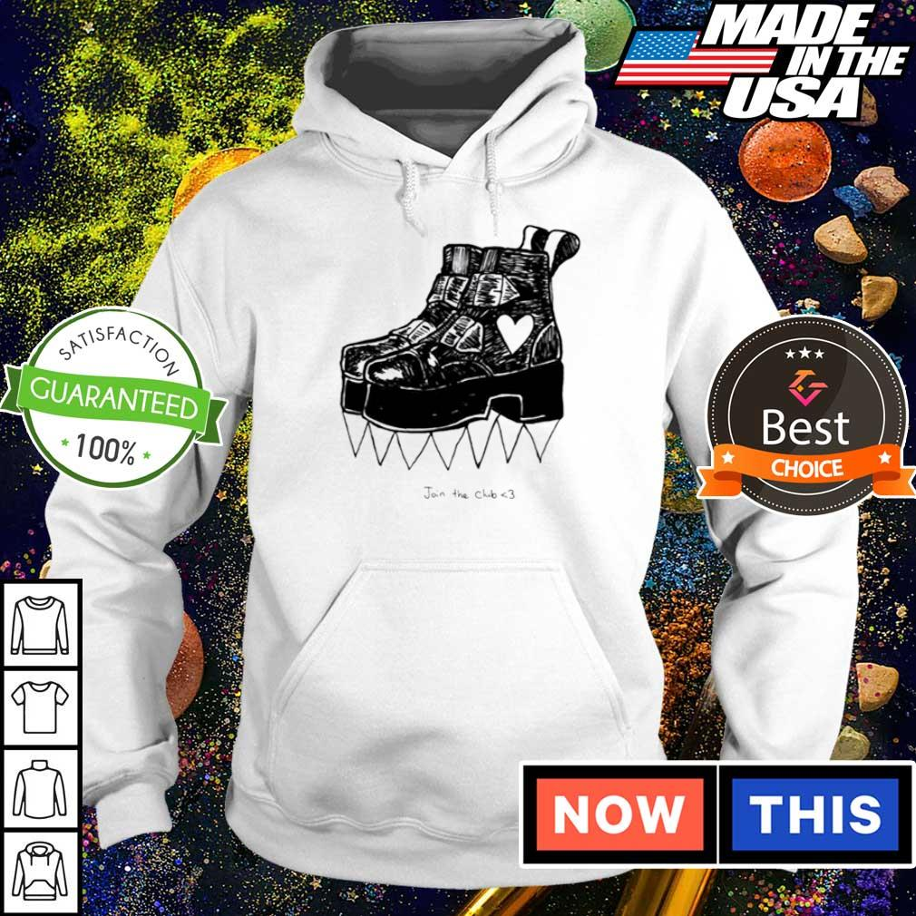 Deathstud boots join the club s hoodie