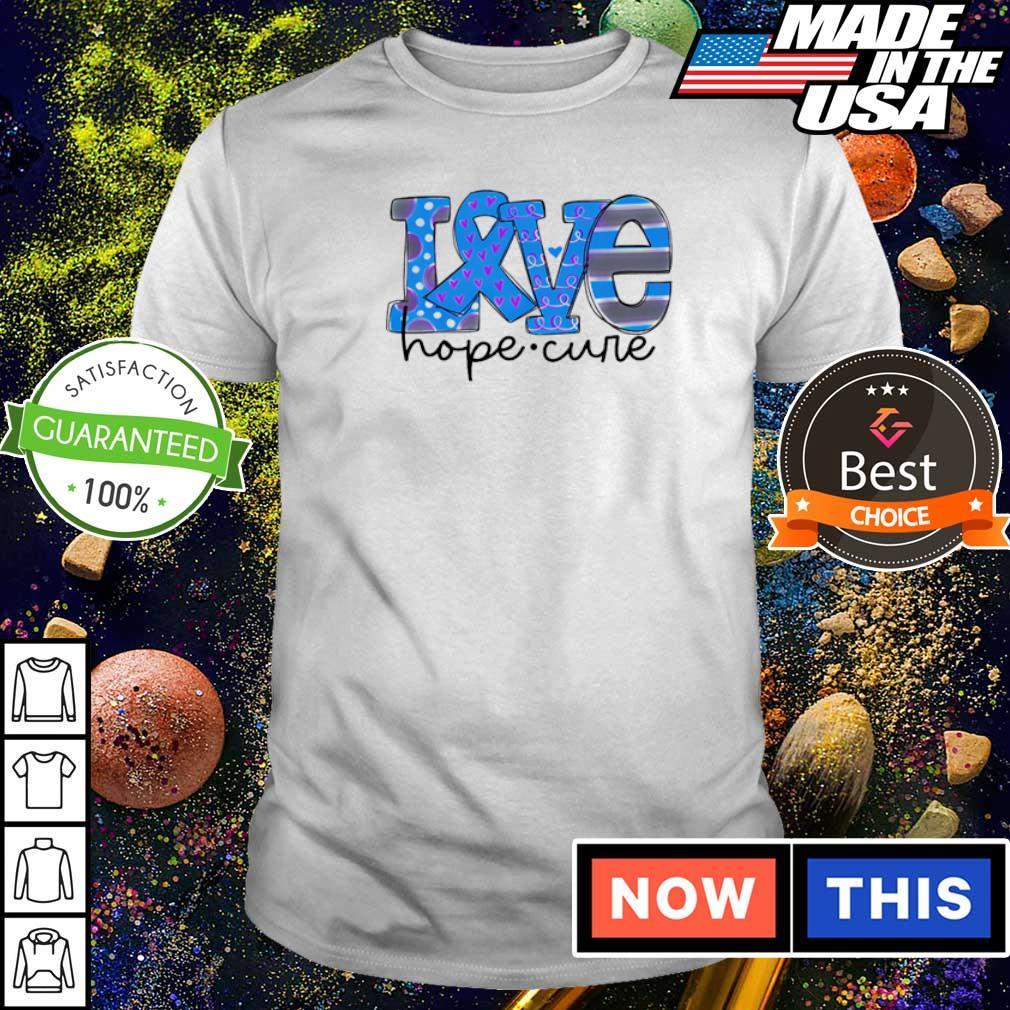 Diabetes love hope cure shirt