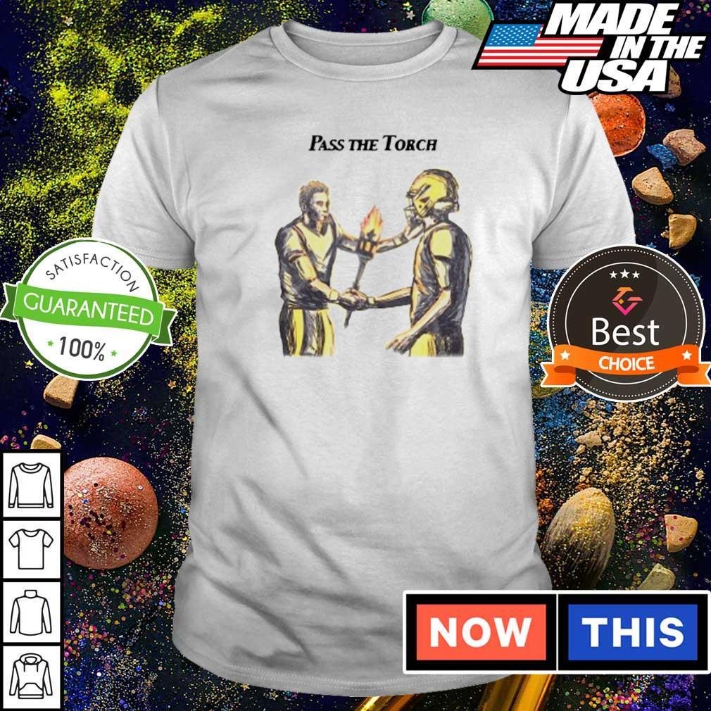 Football pass the torch shirt